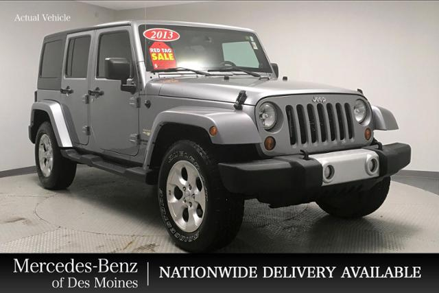 2013 Jeep Wrangler Sport >> Pre Owned 2013 Jeep Wrangler Unlimited 4wd 4dr Sahara 4wd