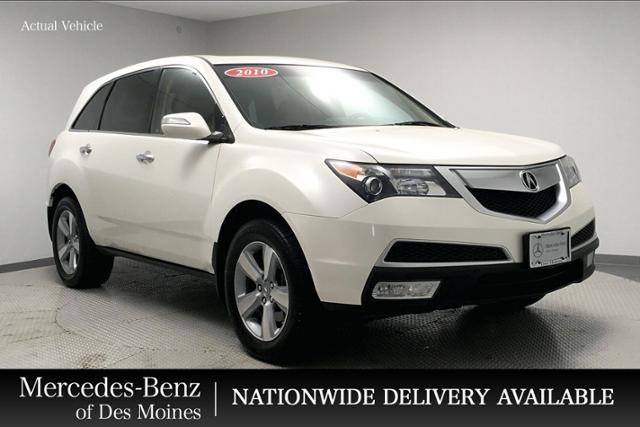 Acura Des Moines >> Pre Owned 2010 Acura Mdx Awd 4dr Technology Entertainment Pk Awd